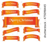 orange shiny color merry... | Shutterstock .eps vector #475098445