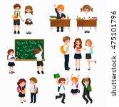 illustration of happy children ... | Shutterstock . vector #475101796