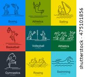 sports thin line vector icons... | Shutterstock .eps vector #475101856