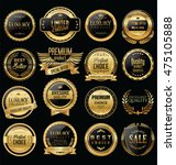 premium and luxury golden retro ... | Shutterstock .eps vector #475105888