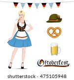 oktoberfest set. isolated... | Shutterstock .eps vector #475105948