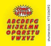 comic font alphabet pop art... | Shutterstock .eps vector #475106092