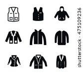 jacket vector icons. simple...