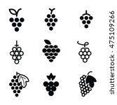 grapes vector icons. simple...