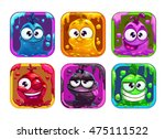 funny cartoon liquid characters ... | Shutterstock .eps vector #475111522