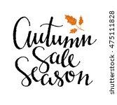 fall season sale card design.... | Shutterstock .eps vector #475111828