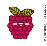 fresh fruit kawaii character... | Shutterstock .eps vector #475112122