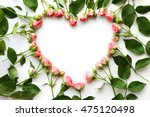 Heart Frame Made Of Beautiful...