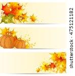autumn horizontal backgrounds...   Shutterstock . vector #475121182