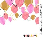 watercolor pink and glittering... | Shutterstock .eps vector #475123576