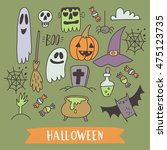 happy halloween print   Shutterstock .eps vector #475123735