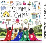 Small photo of Summer Kids Camp Adventure Explore Concept