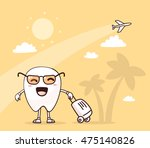 vector illustration of smile... | Shutterstock .eps vector #475140826