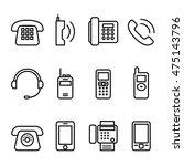 telephone   smart phone   fax... | Shutterstock .eps vector #475143796