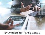 business team present.... | Shutterstock . vector #475163518