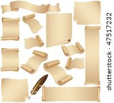 parchment vector set with... | Shutterstock .eps vector #47517232