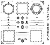 vintage set of classic elements.... | Shutterstock .eps vector #475174312