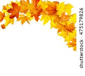autumn maple leaves falling and ... | Shutterstock . vector #475179826