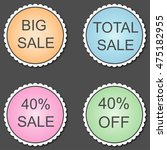 special discount 40  sticker. | Shutterstock . vector #475182955