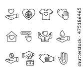 vector graphic flat icon set... | Shutterstock .eps vector #475186465