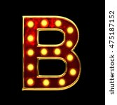b isolated golden letter with... | Shutterstock . vector #475187152