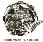 a vector illustration of cool... | Shutterstock .eps vector #475188688