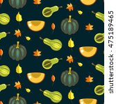 autumn harvest seamless vector... | Shutterstock .eps vector #475189465