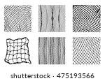 six different net patterns.... | Shutterstock .eps vector #475193566