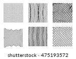 six different net patterns.... | Shutterstock .eps vector #475193572