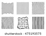 six different net patterns.... | Shutterstock .eps vector #475193575