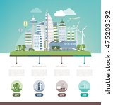 green sustainable city  ecology ... | Shutterstock .eps vector #475203592