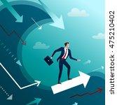 the successful businessman...   Shutterstock . vector #475210402