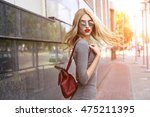 fashion portrait of young... | Shutterstock . vector #475211395