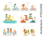 family cartoon set with... | Shutterstock .eps vector #475214356