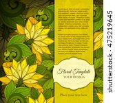vector colored floral template... | Shutterstock .eps vector #475219645
