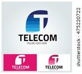 telecom logo design template ... | Shutterstock .eps vector #475220722
