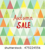 autumn sale banner with trees... | Shutterstock .eps vector #475224556