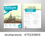 brochure design template vector.... | Shutterstock .eps vector #475235845