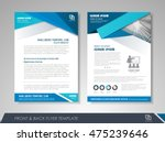 front and back page annual... | Shutterstock .eps vector #475239646