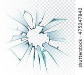 accidentally broken frosted... | Shutterstock .eps vector #475247842