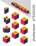 collection of the isometric... | Shutterstock .eps vector #475252102