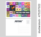 France Vector Postcard Design...
