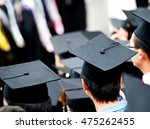 shot of graduation caps during... | Shutterstock . vector #475262455