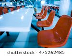 clean school cafeteria with... | Shutterstock . vector #475262485