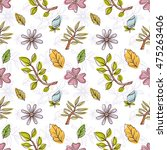 seamless floral pattern with... | Shutterstock .eps vector #475263406