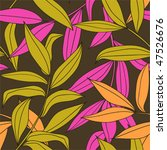 bamboo leaves seamless pattern... | Shutterstock .eps vector #47526676