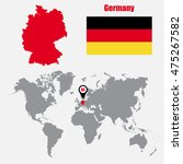 germany map on a world map with ...   Shutterstock .eps vector #475267582
