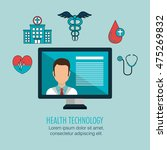 health care medical technology... | Shutterstock .eps vector #475269832