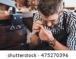 examining every facet of the gem | Shutterstock . vector #475270396