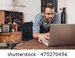 taking his jewelry shop online   Shutterstock . vector #475270456